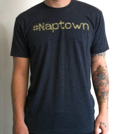 Crew Neck Yellow Font #Naptown Felicia Tees