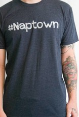 Men's Crew Neck White Font #Naptown Felicia Tees
