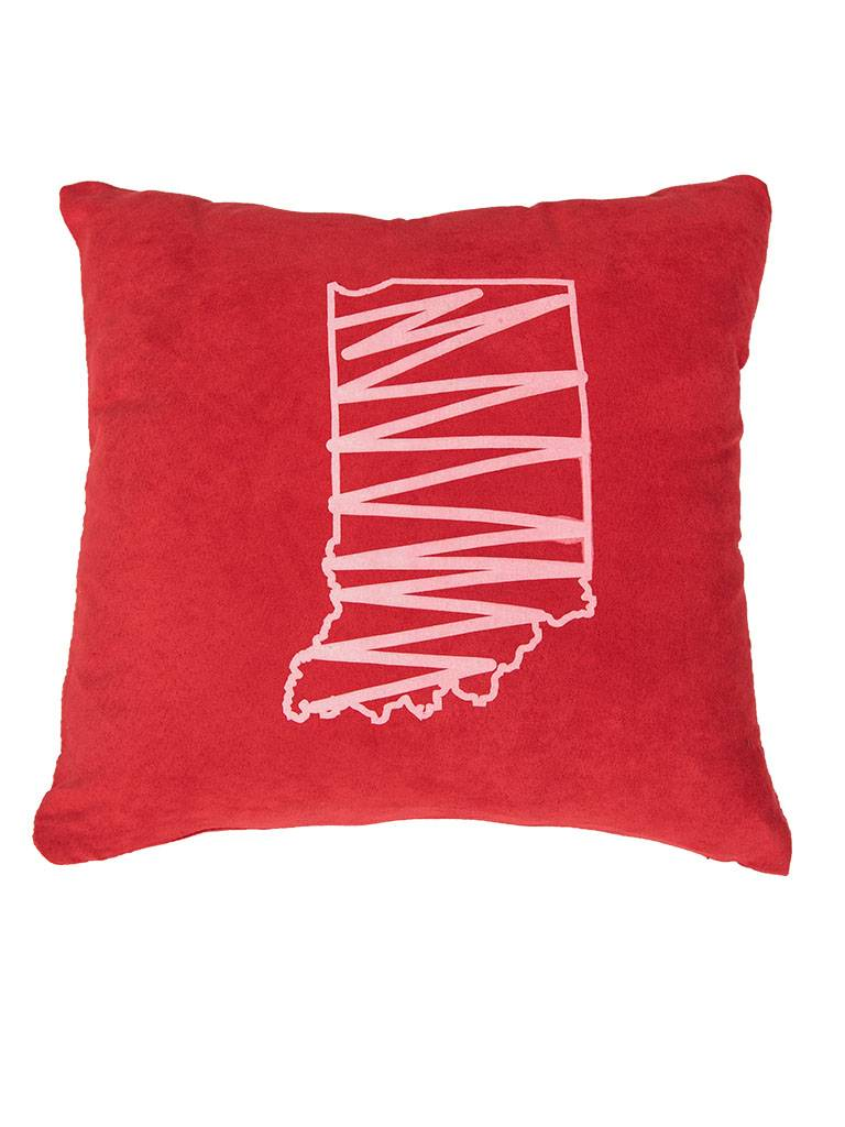Red Indiana Throw Pillow