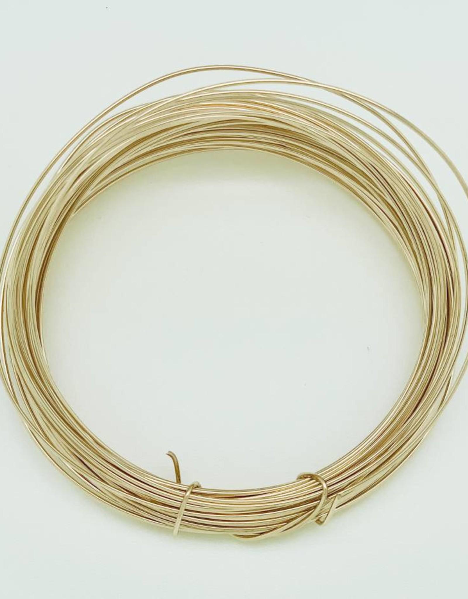 18ga Gold Filled Round Wire 1 oz