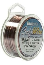 Craft Wire 18ga Round Antique Copper 7yd