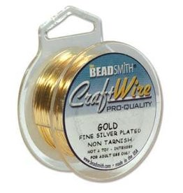Craft Wire 18ga Round Gold Plate 4yds