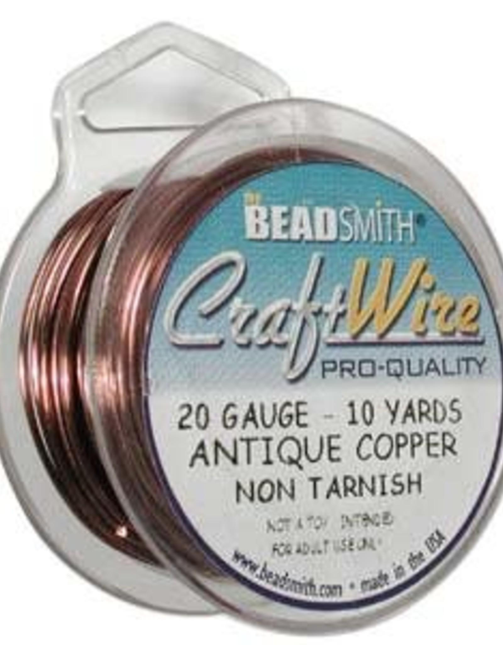 Craft Wire 20ga Round Antique Copper 10yd