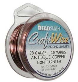 Craft Wire 20ga Round Antique Copper 10yd