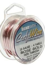 Craft  Wire 18 ga Rose Gold Plate 4yd
