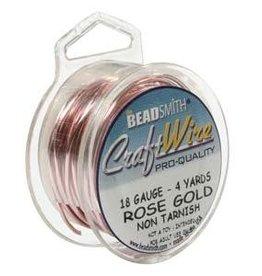 Craft  Wire 18 ga Rose Gold Plate 4yd