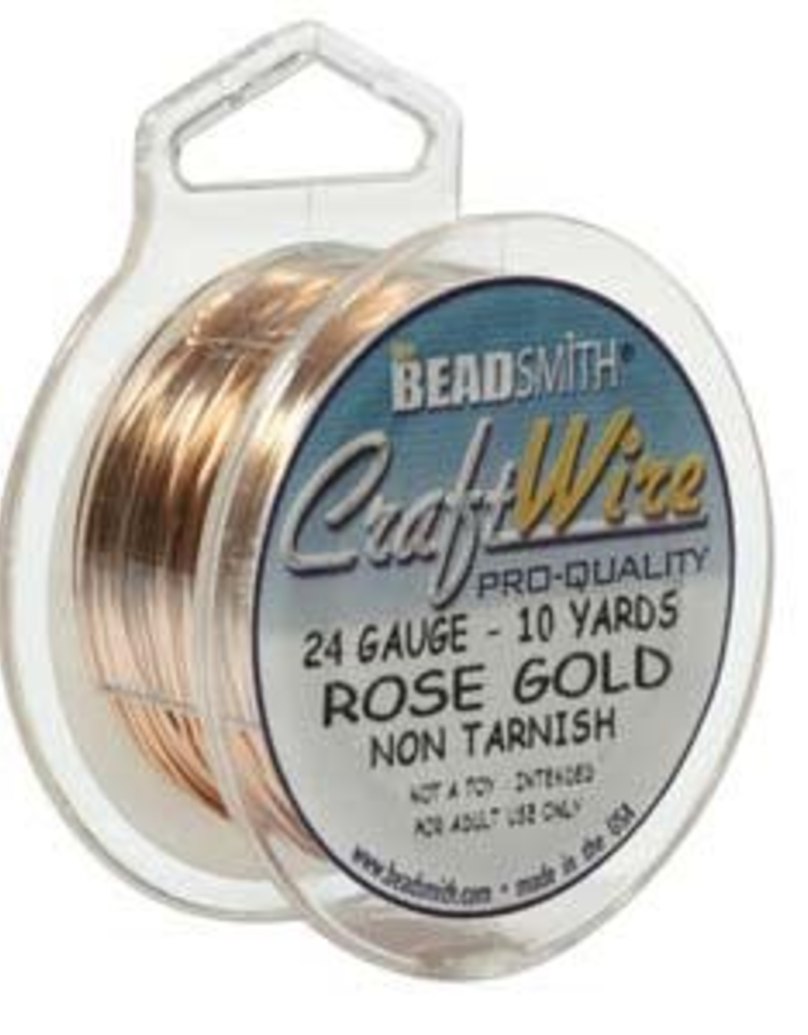 Craft  Wire 24ga Rose Gold Plate 10yd