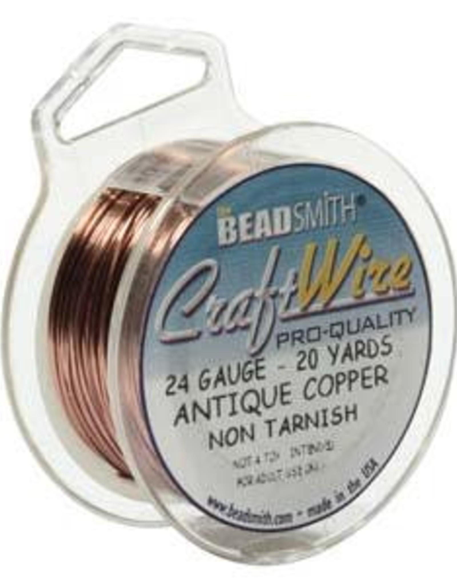 Craft  Wire 24ga.  Antique Copper 20yd