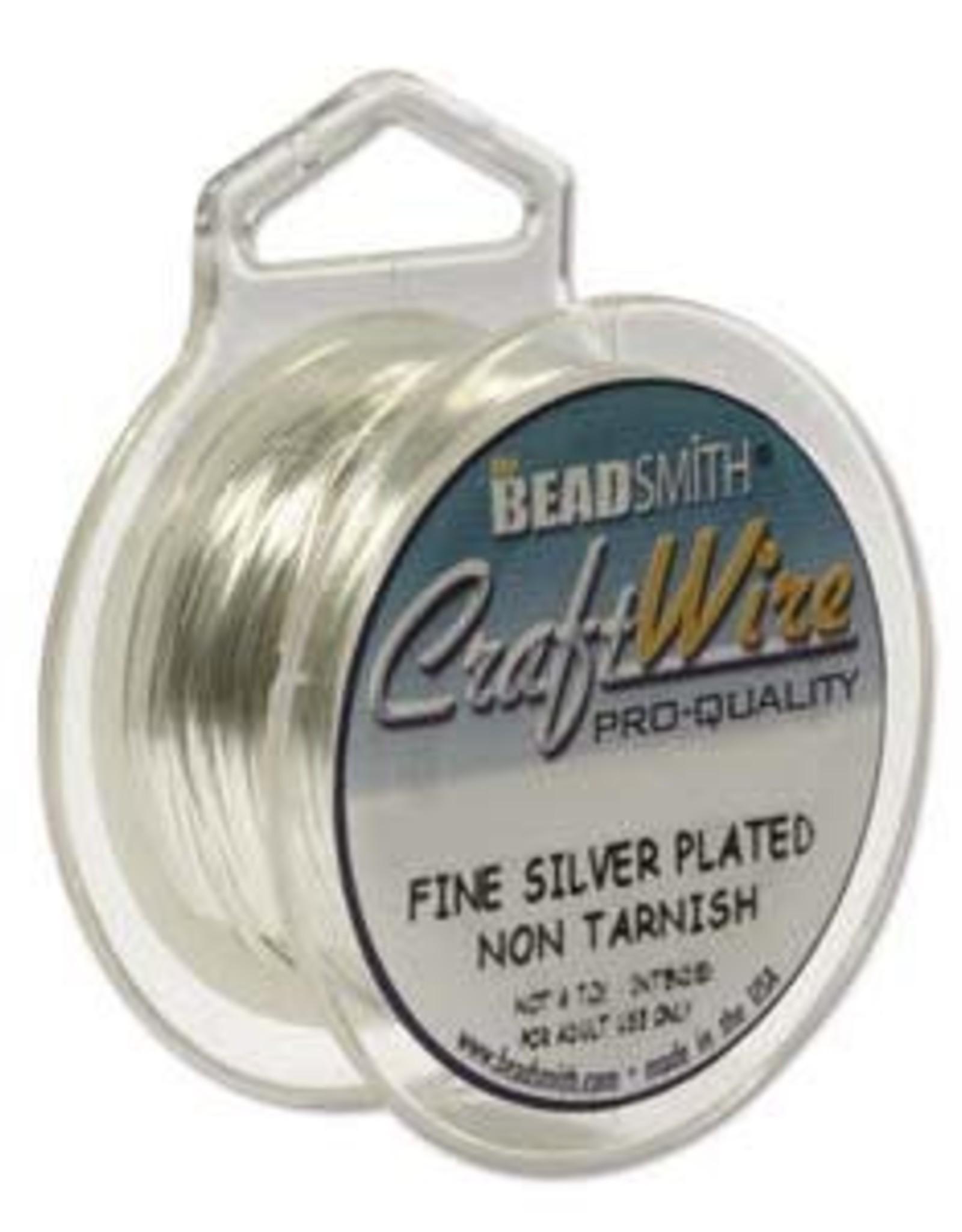 Craft  Wire 24ga. Silver Plate 15yd