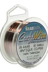 Craft  Wire 26ga. Antique Copper 30yd