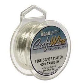 Craft  Wire 26ga. Silver Plate 15yd