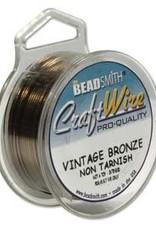 Craft  Wire 26ga. Vintage Bronze 30yd