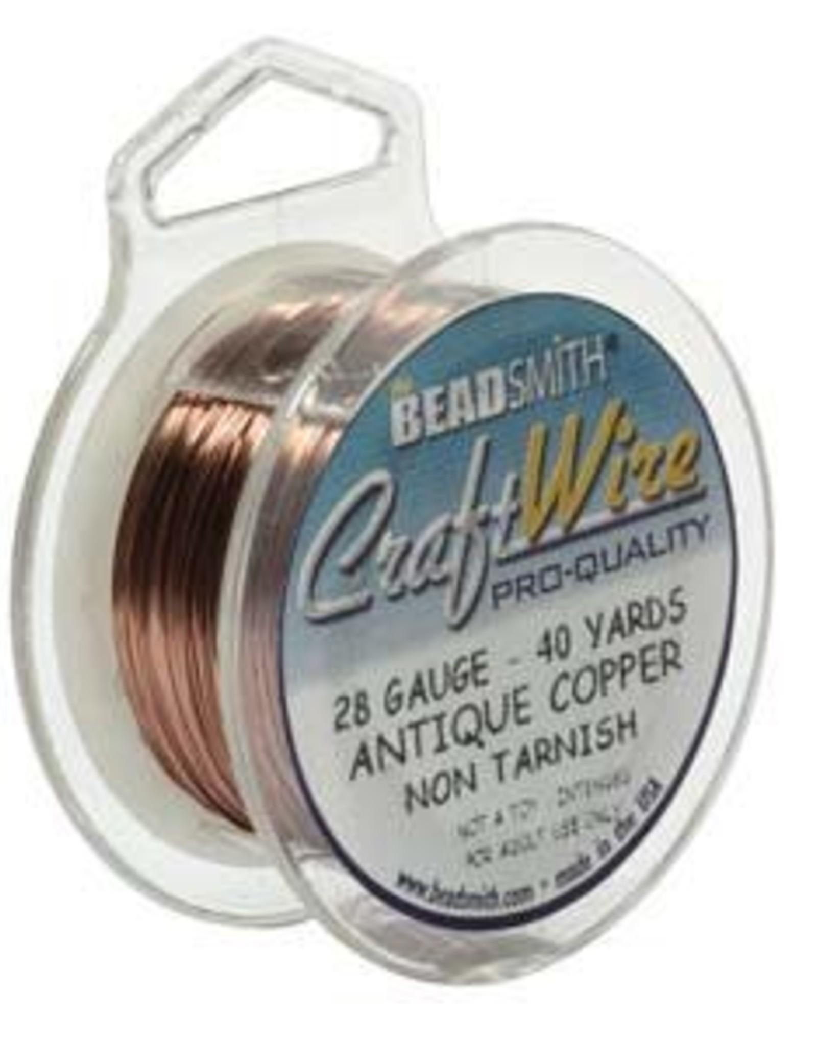 Craft  Wire 28ga. Antique Copper 40yd