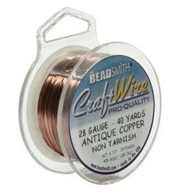 Craft  Wire 28ga. Antique Copper 40yd