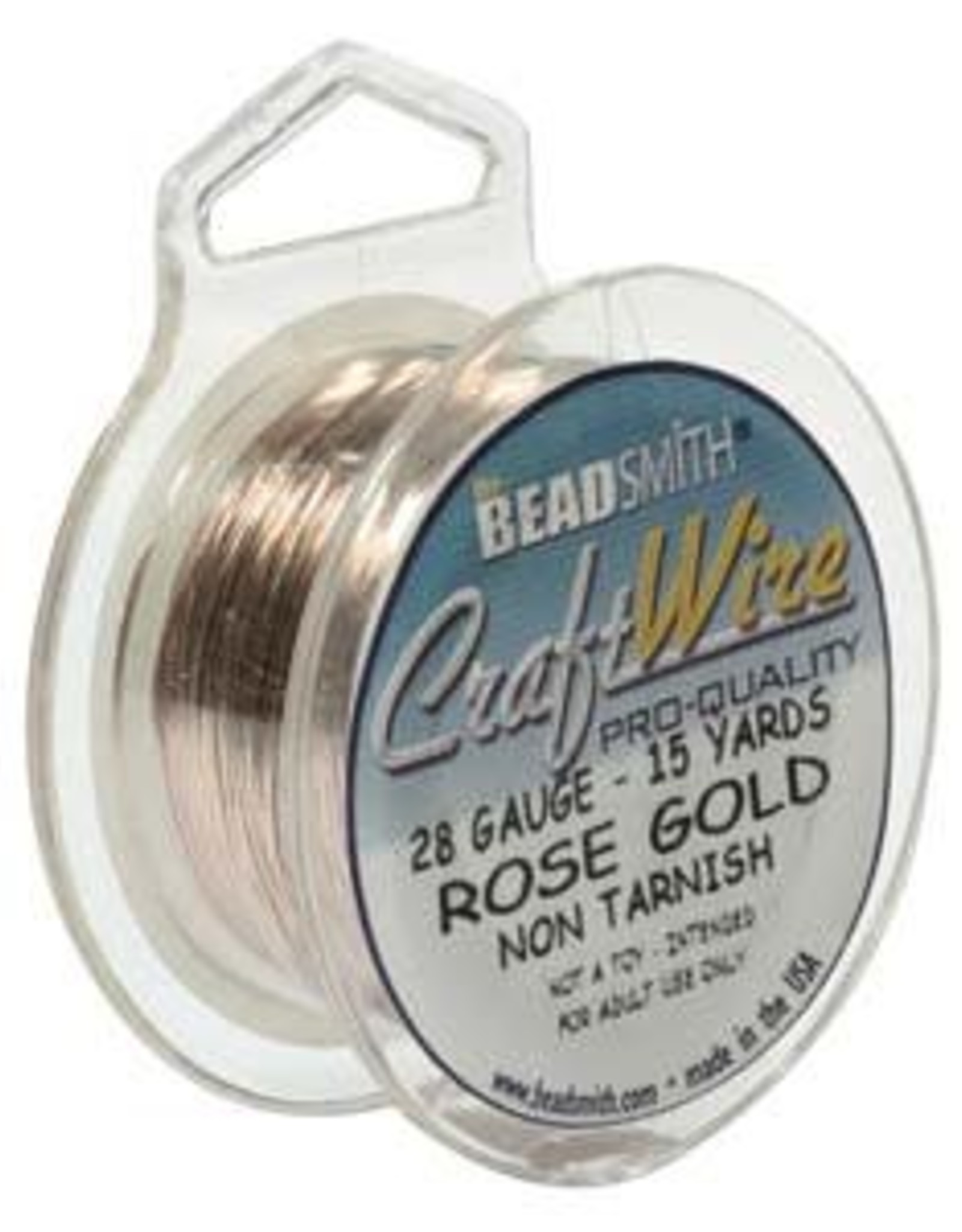Craft  Wire 28ga. Rose Gold Plate 15yd