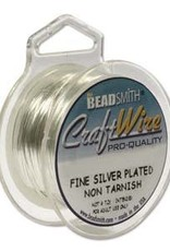 Craft  Wire 28ga. Silver Plate 15yd