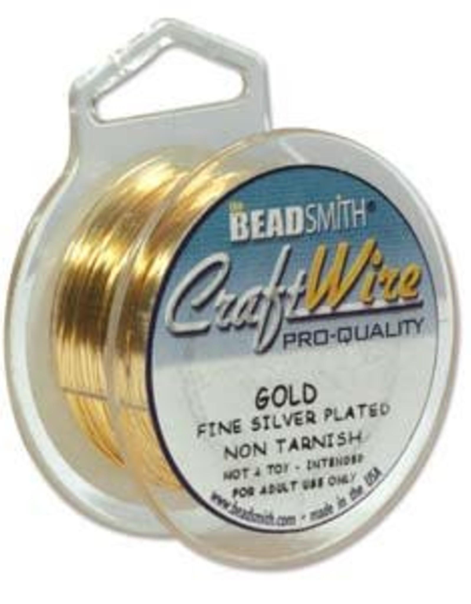 Craft Wire 20ga Gold Plate 6yds