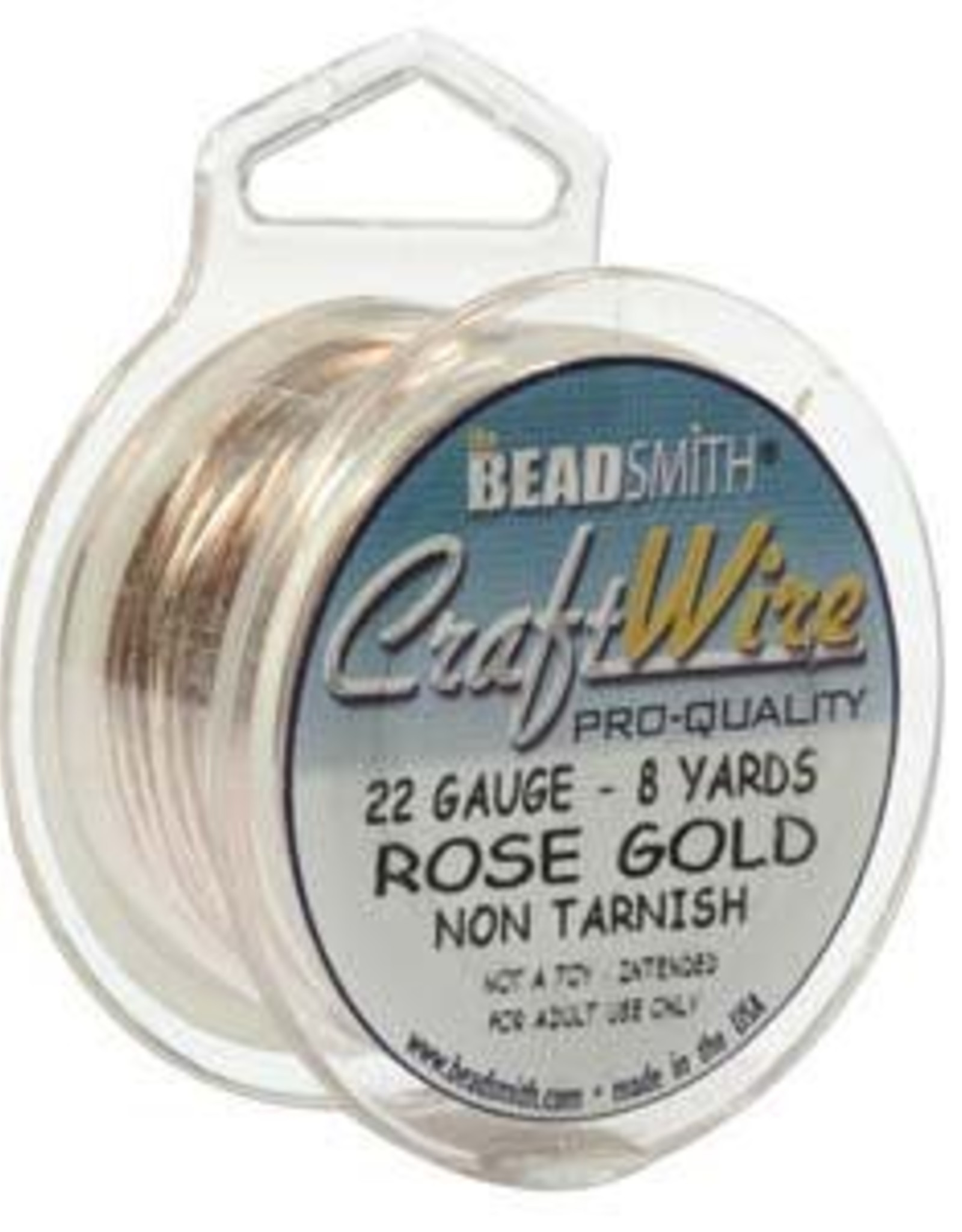 Craft Wire 20ga Rose Gold Plate 6yd