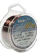 Craft Wire 22ga. Antique Copper Plate 15yd