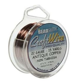 Craft Wire 22ga. Antique Copper Plate 15yd