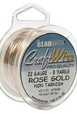 Craft Wire 22ga. Rose Gold Plate  8yd