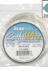 Craft Wire 21ga Twist Silver Plate