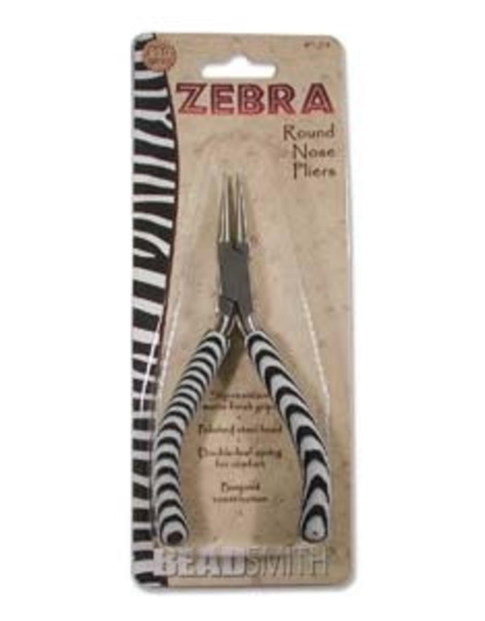 Zebra Round Nose Pliers