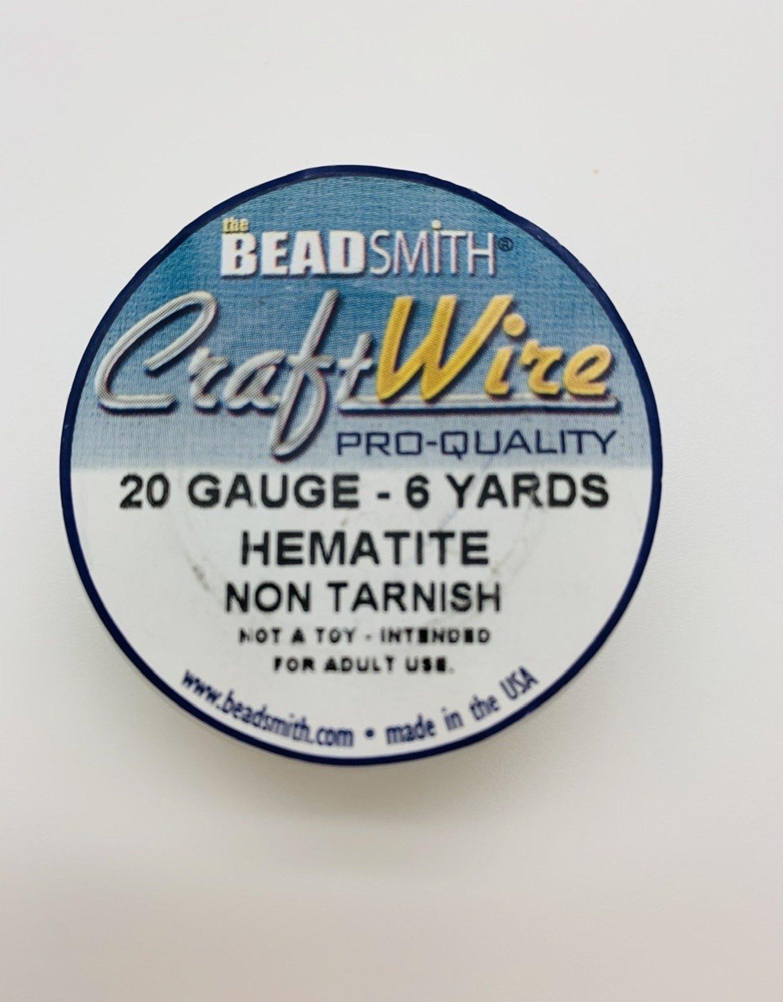 Craft Wire 20ga Round Hematite 6 yd