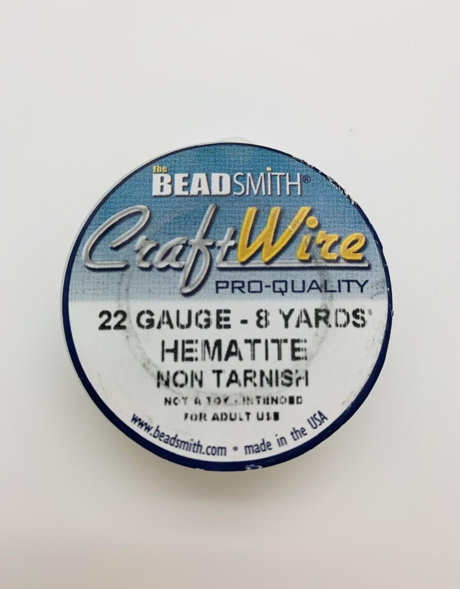 Craft Wire 22ga Round Hematite 8 yd