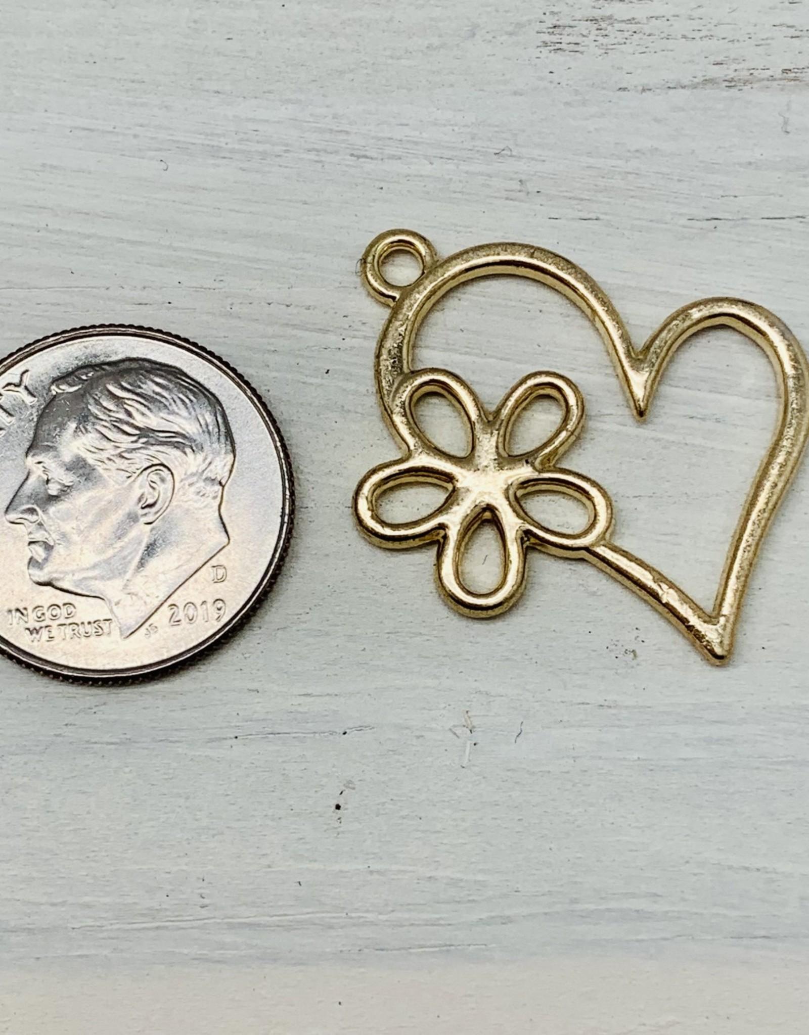 Heart w/ Flower Charm