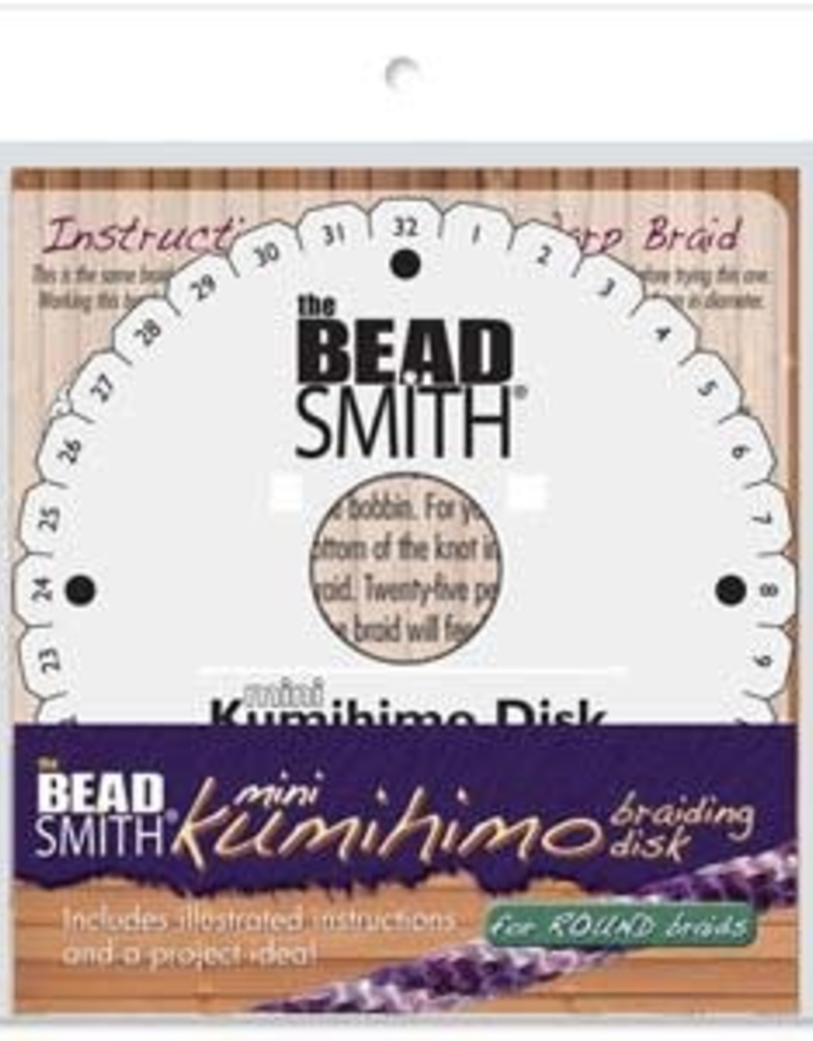 """Kumihimo Foam 4.24""""  Disk with Instructions"""