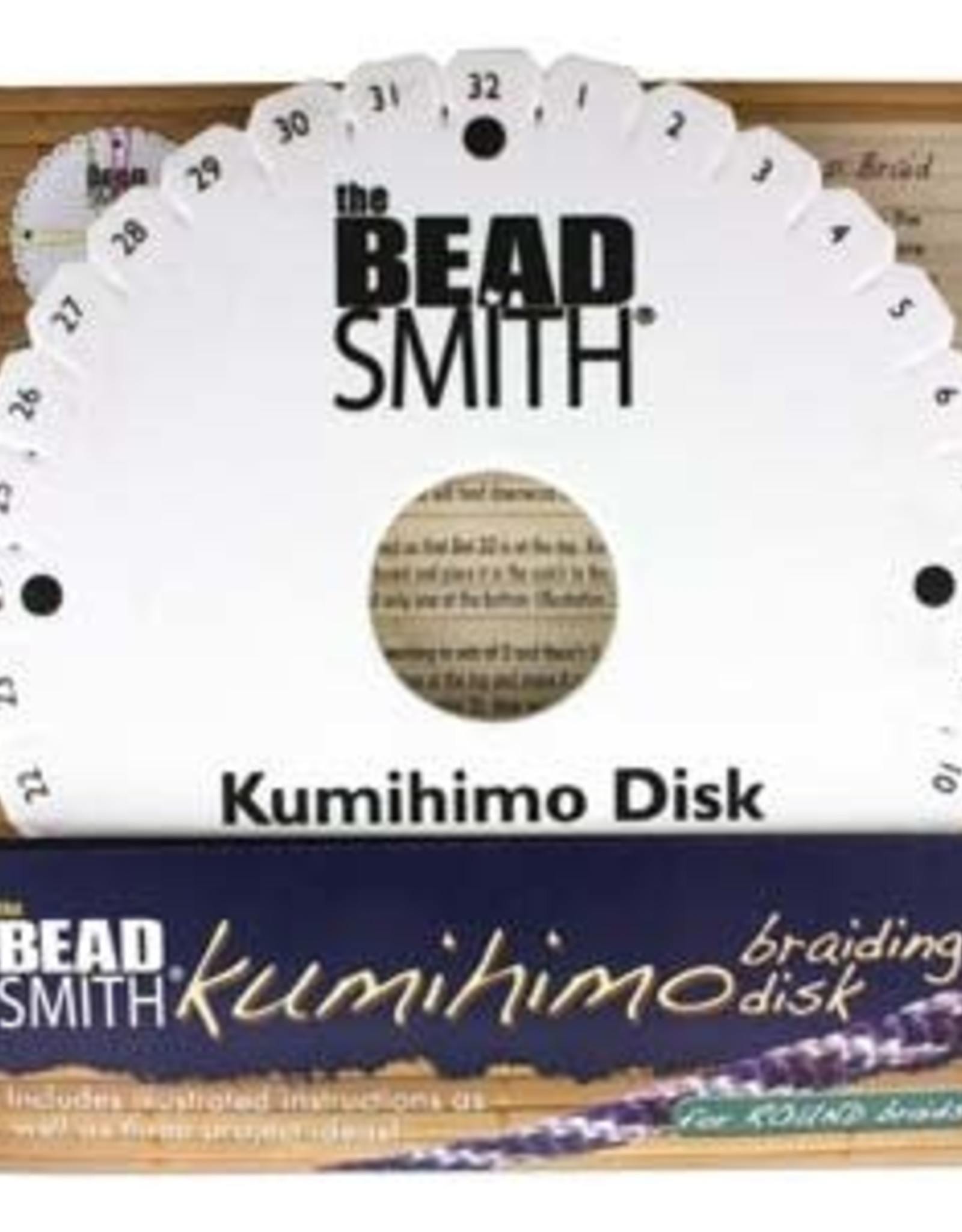"Kumihimo  Foam 6"" Disk with Instructions"