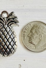 25x15mm Pineapple Charm Antique Silver ea