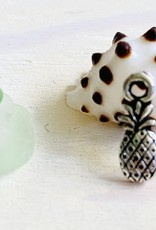 Small Pineapple Charm Antique Silver