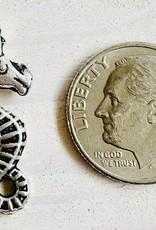 24mm Sea Horse Antique Silver