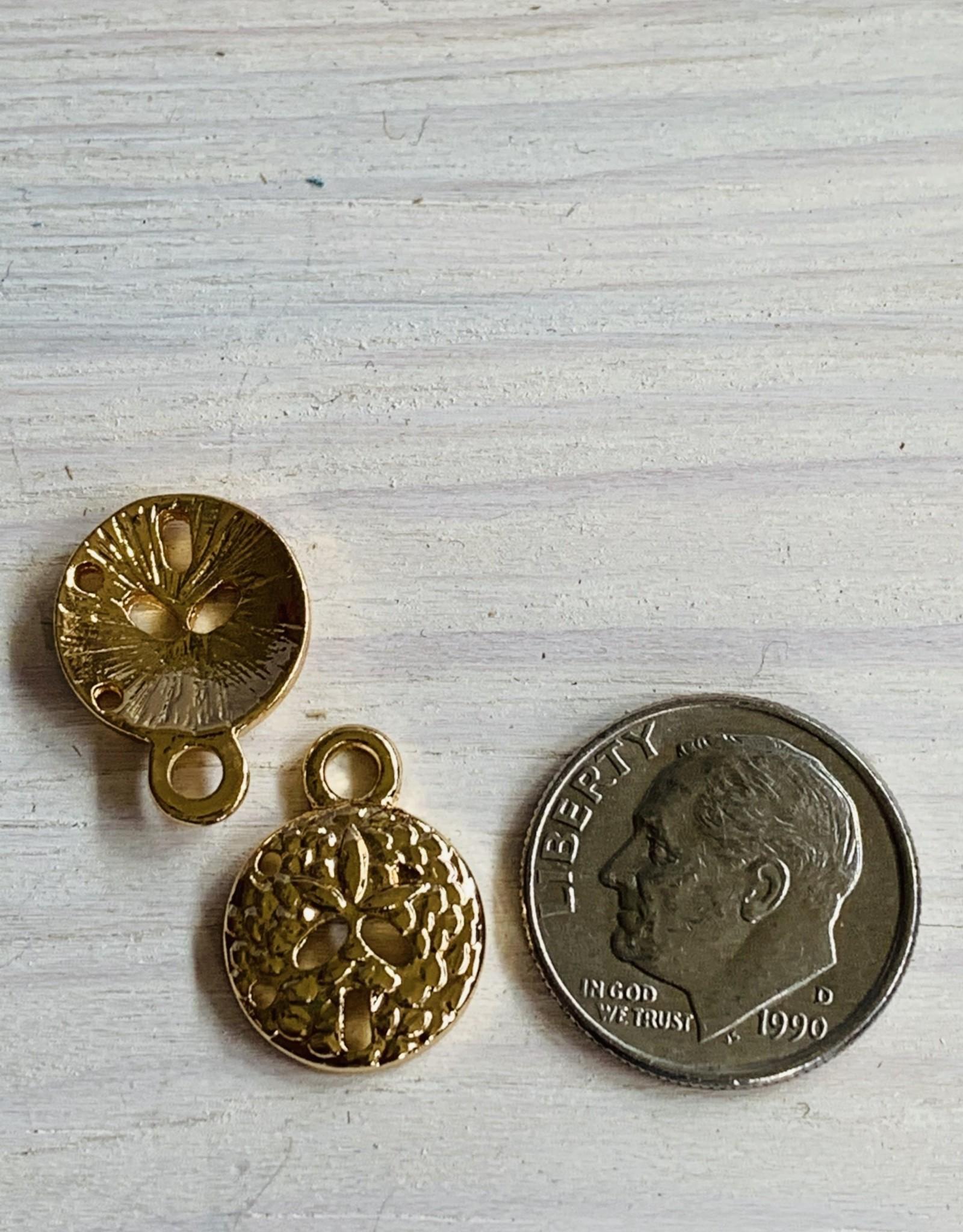 Sand Dollar Charm Silver Plated