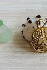 Sand Dollar Charm Gold Plated