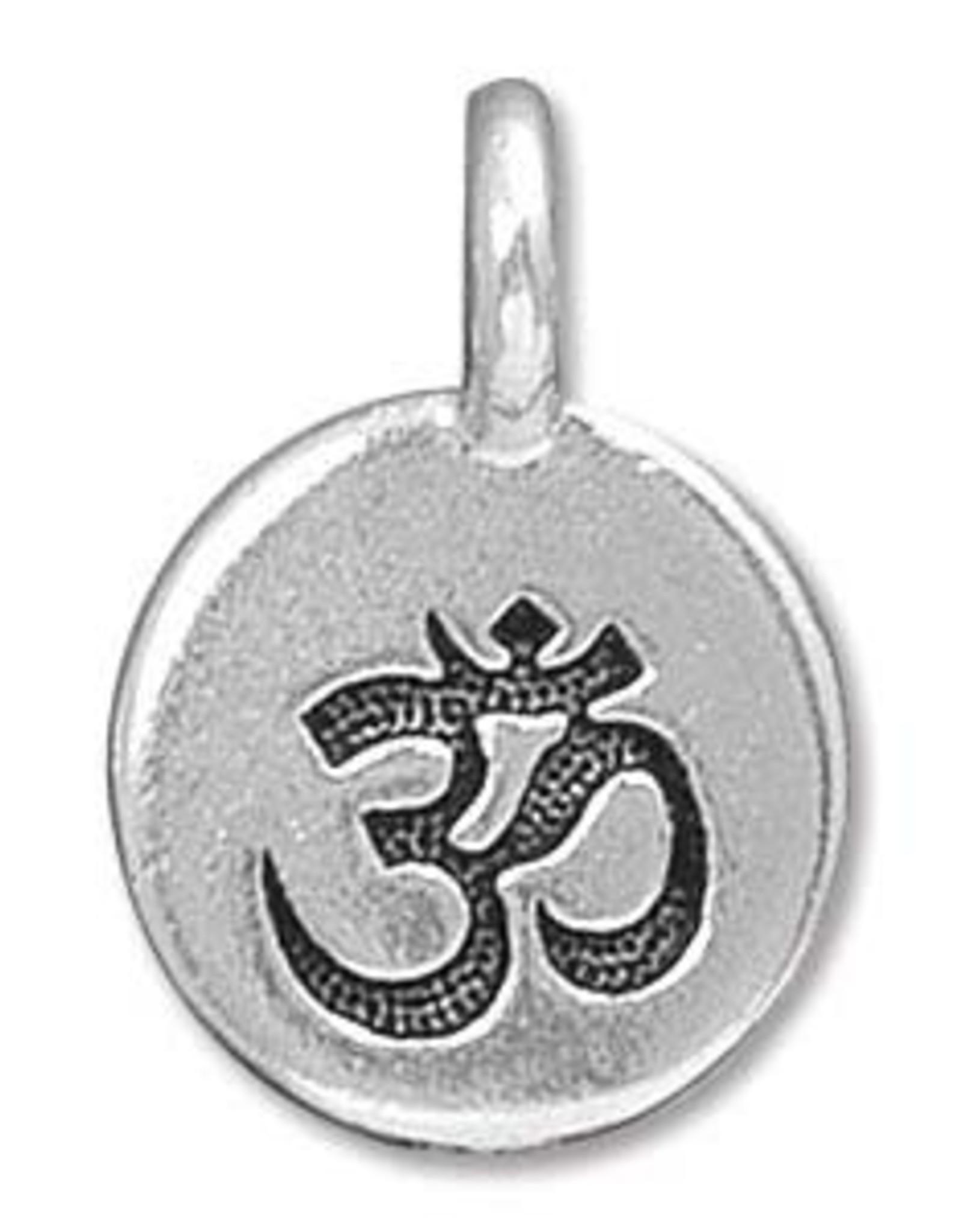 Tierra Cast Ohm Charm Silver Plated