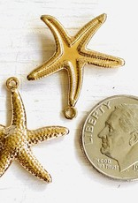 18mm Starfish Gold Plated