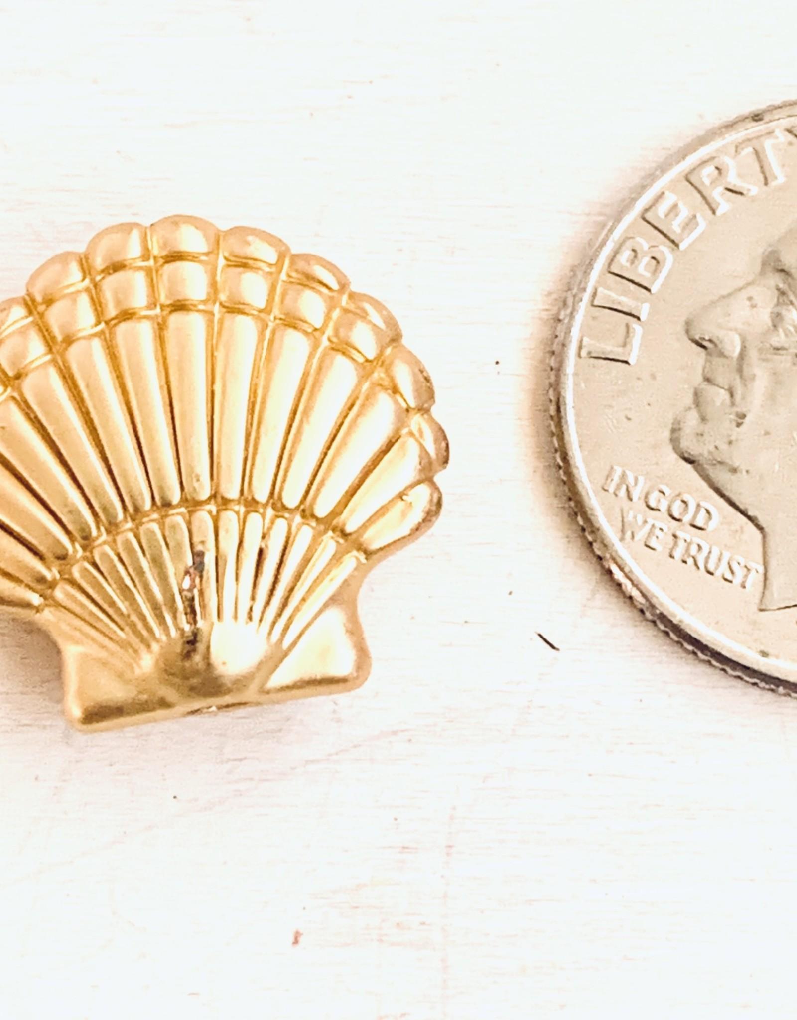 Shell Bead Matte Gold