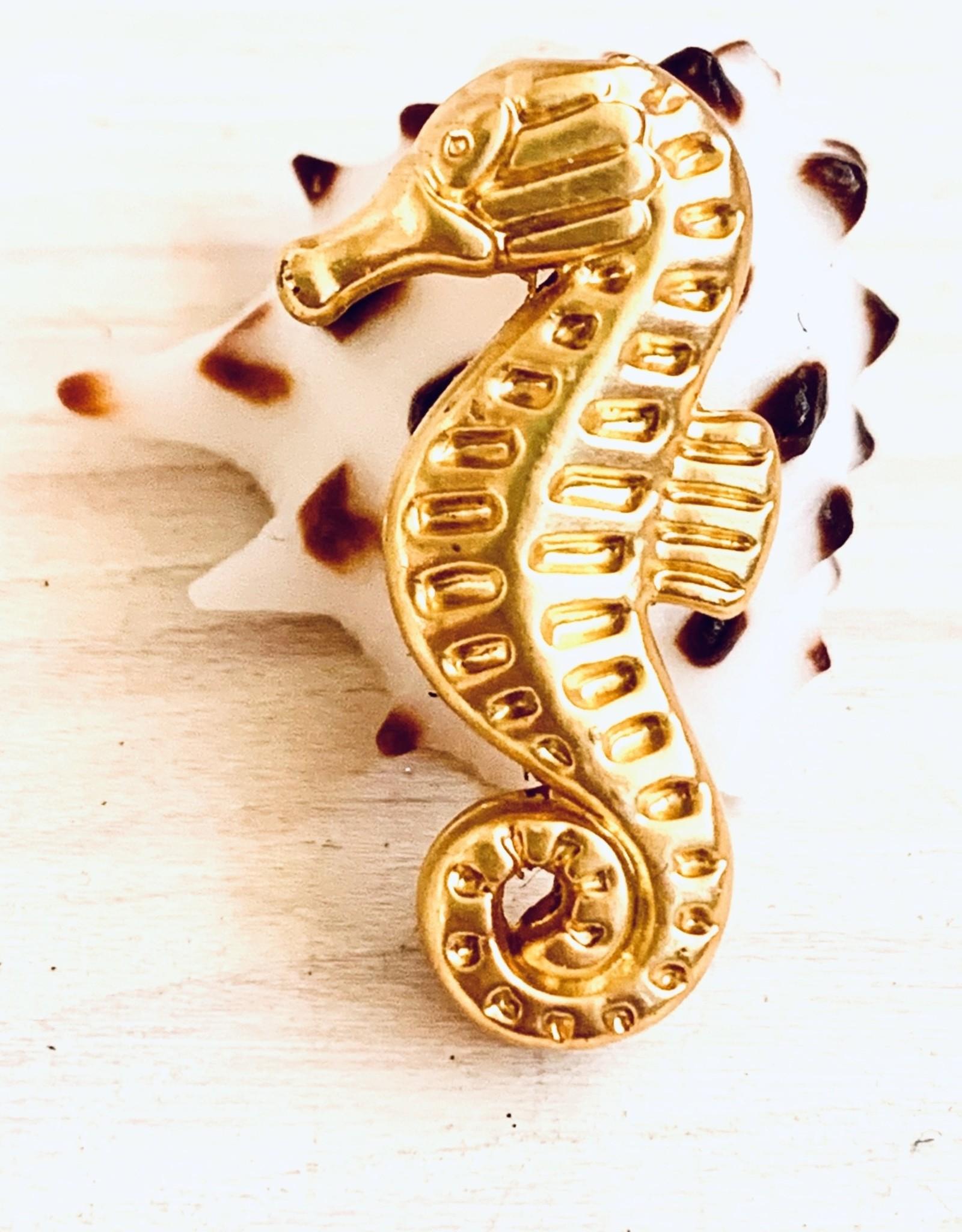 Seahorse Matte Gold