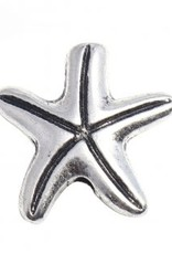 Starfish Metal Bead Silver