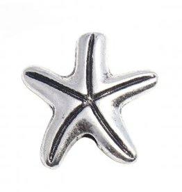 Starfish Metal Bead Silver