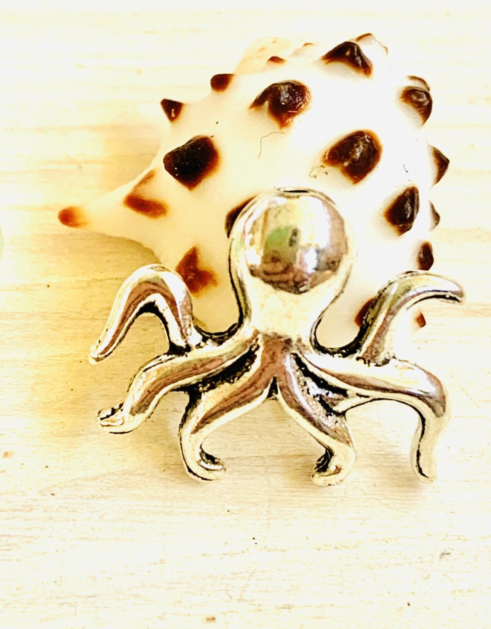 Octopus Bead Silver