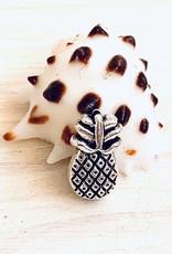Mini Pineapple Beads Antique Silver