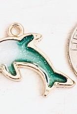 Dolphin Sparkle Resin Charm