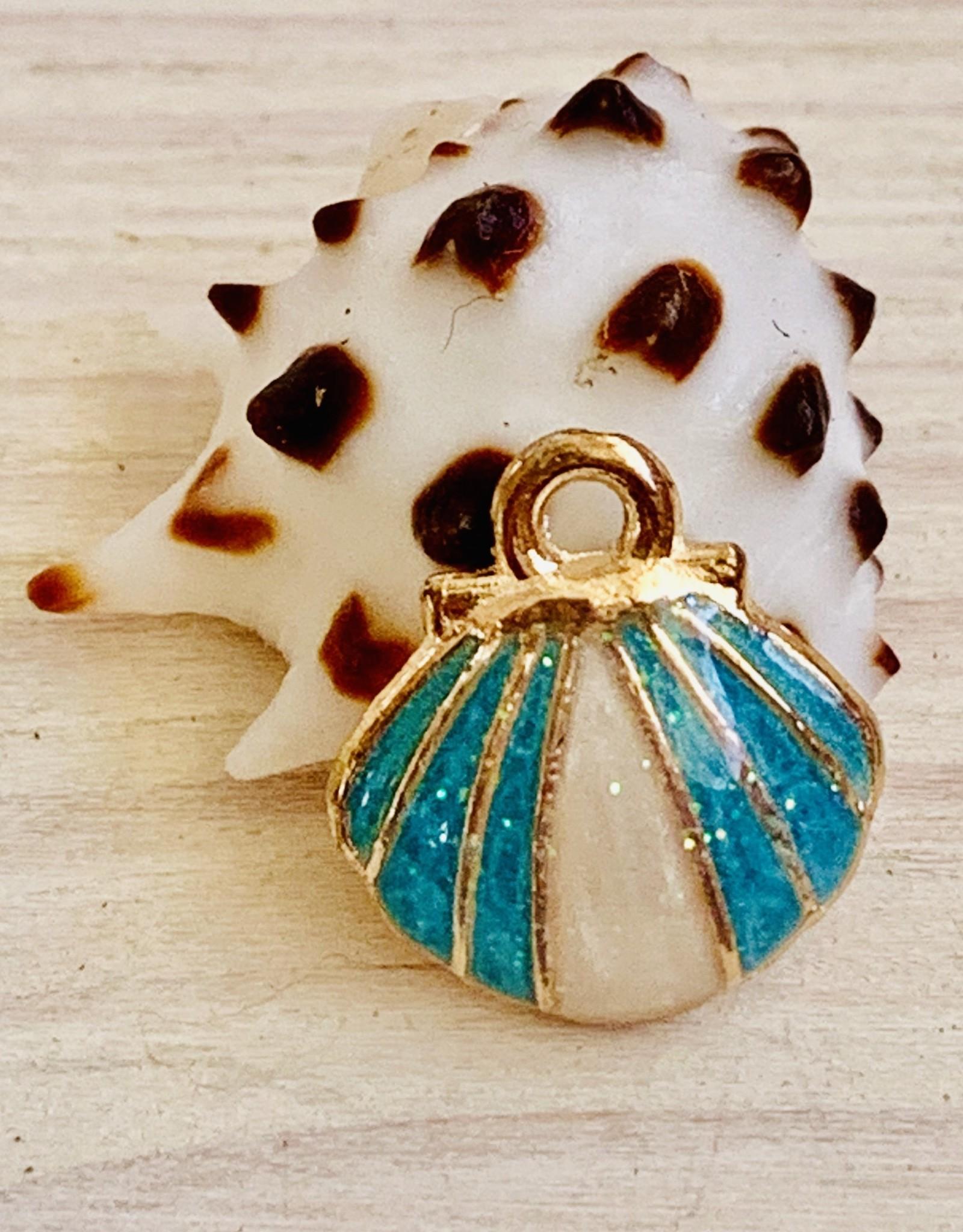 Clam Shell Enamel Aqua