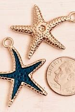 Blue Enamel Starfish