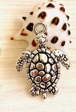 22mm Honu Antique Silver ea