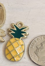 Pineapple Enamel Yellow & Green